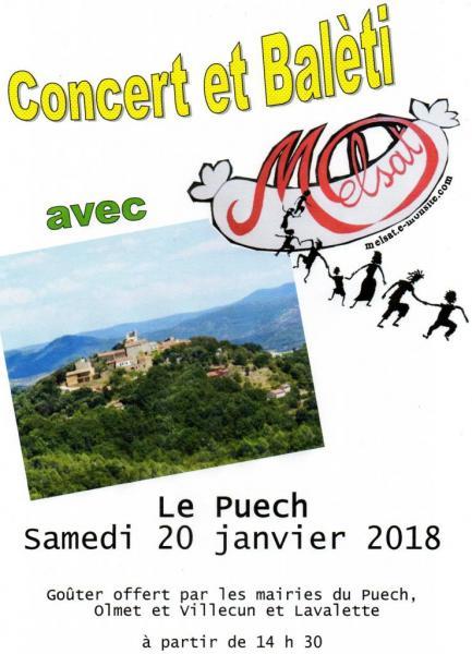 Concert et balèti Le Puech 20 janvier 2018