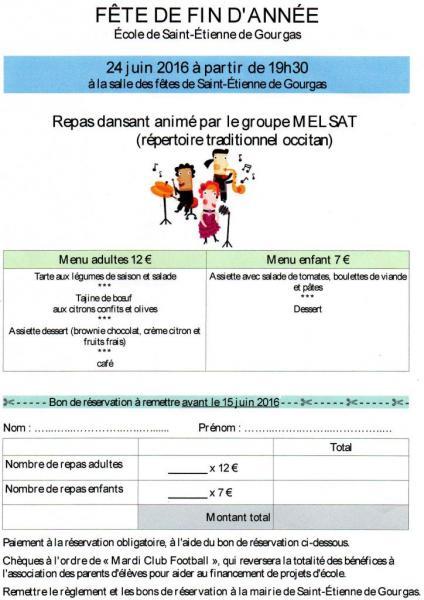 Fête école de St Etienne 24 juin 2016