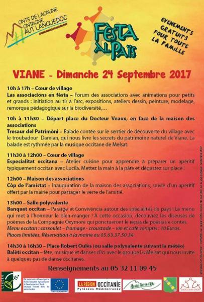 Viane Fête des associations Dimanche 24 septembre 2017