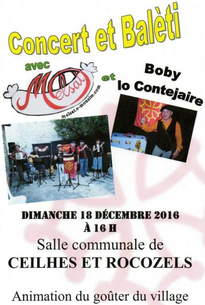 Concert et balèti Ceilhes 18 décembre 2016