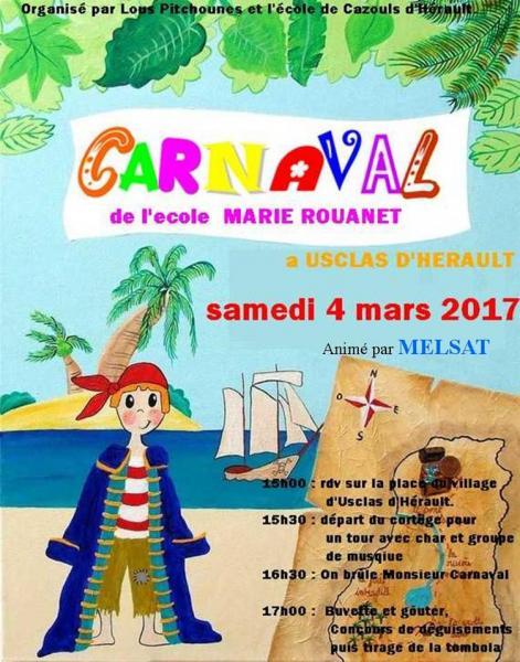 Carnaval Usclas d'Hérault 4 mars 2017