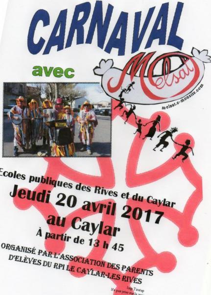 Carnaval RPI Le Caylar-Les Rives 20 avril 2017