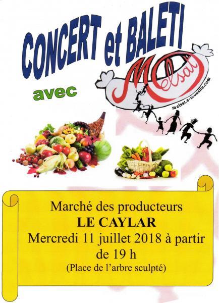 Marché des producteurs Le Caylar 11 juillet 2018