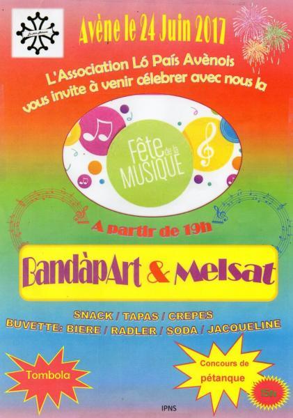 Avène fête de la musique 24 juin 2017