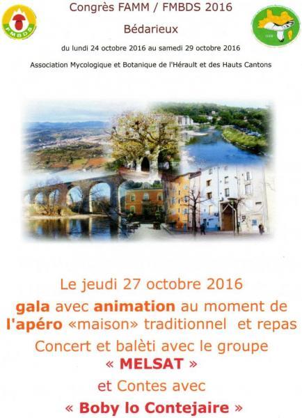 Bédarieux Concert et balèti 27 octobre 2016