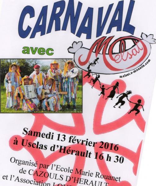 Carnaval Ecole Cazouls d'Hérault 13 février 2016