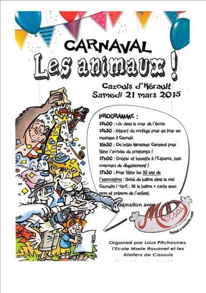 Carnaval  Ecole Cazouls d'Hérault mars 2015
