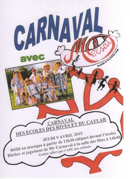 Carnaval Ecoles du Caylar et des Rives avril 2015