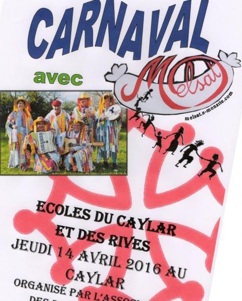 Carnaval écoles Le Caylar et Les Rives 14 avril 2016
