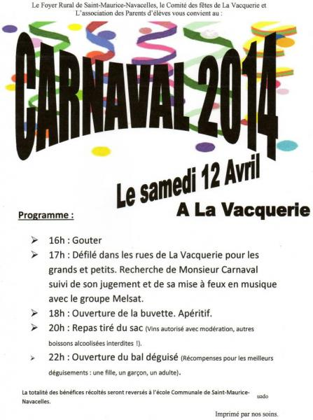 carnaval La Vacquerie avril 2014