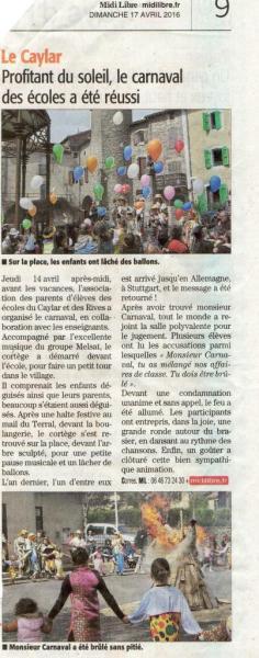 carnaval Le Caylar  2016