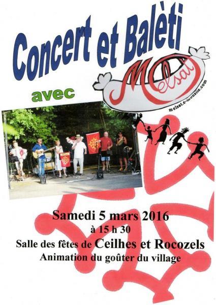 Concert et balèti Ceilhes 5 mars 2016
