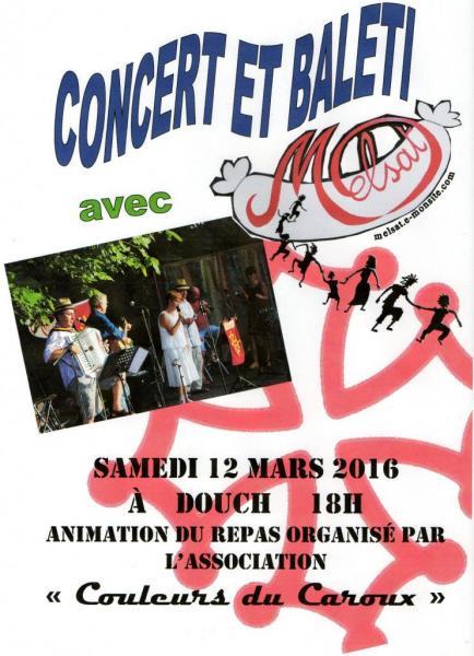Concert et balèti Douch 12 mars 2016