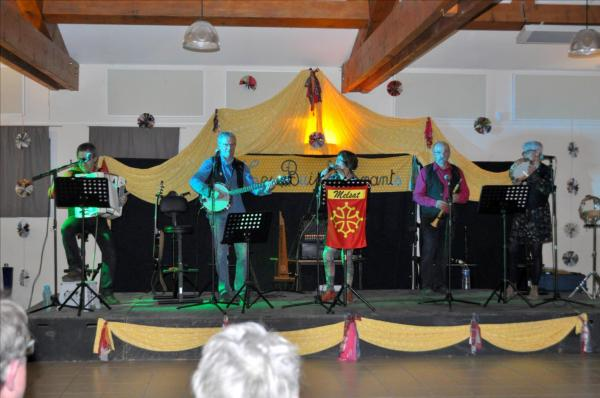Les 5 musiciens du groupe Melsat au festival Les Buis Sonnants 2018