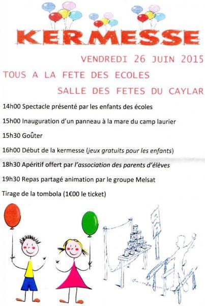 Fête école du Caylar-Les Rives 26 juin 2015