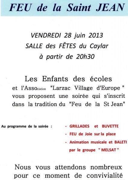 feu St Jean Le Caylar juin 2013