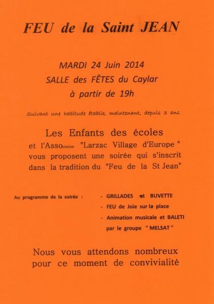 feu St Jean Le Caylar juin  2014