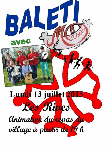 Repas du village Les Rives 13 juillet 2015
