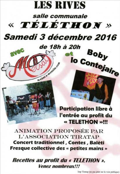 Les Rives Téléthon 3 décembre 2016