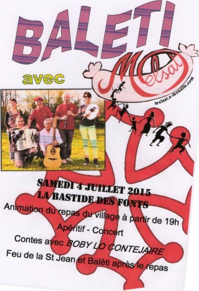 Repas du village La Bastide des Fonts 4 juillet 2015