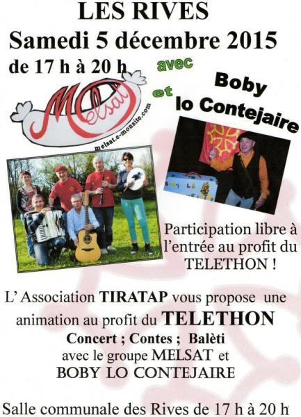 Téléthon Les Rives 5 décembre 2015